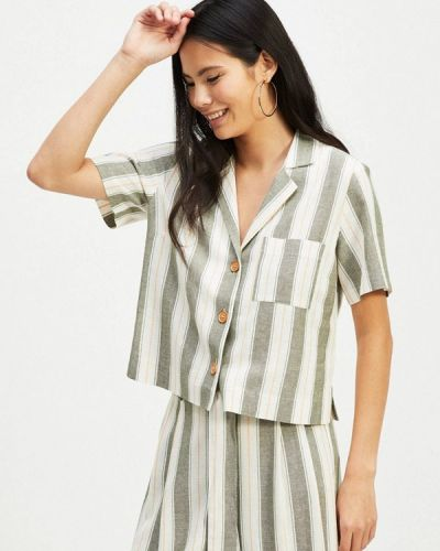 Блузка с коротким рукавом серая Miss Selfridge