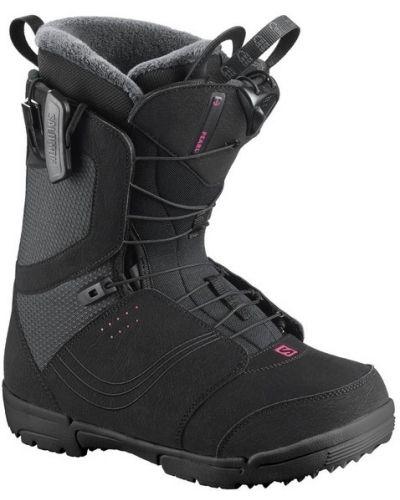 Черные ботинки из плотной ткани с жемчугом Salomon