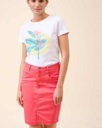 Różowa spódnica ołówkowa bawełniana Orsay