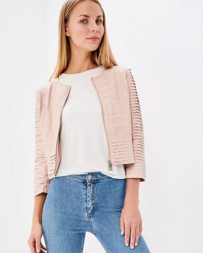 Кожаная куртка весенняя розовая Motivi