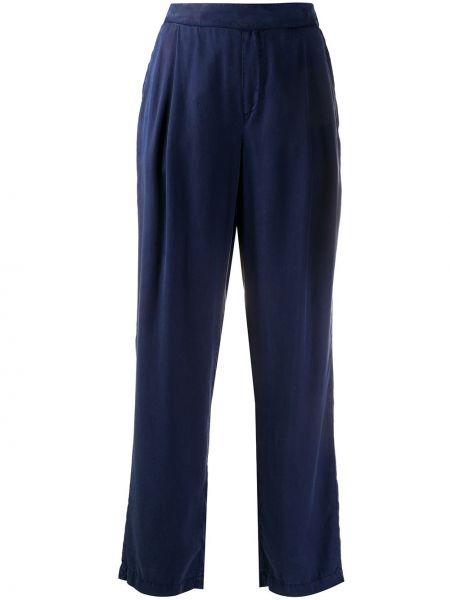 Синие брюки с карманами свободного кроя Woolrich