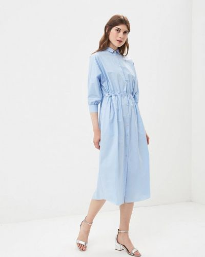 Голубое платье с длинными рукавами Imperial