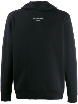 Czarna bluza długa z kapturem z długimi rękawami Drole De Monsieur