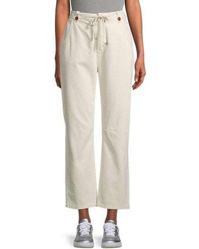 Широкие джинсы с карманами свободного кроя на пуговицах One Teaspoon