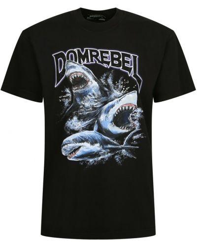 Czarna t-shirt Domrebel