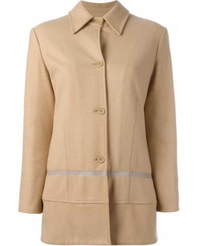 Однобортное шерстяное длинное пальто с капюшоном Helmut Lang Pre-owned