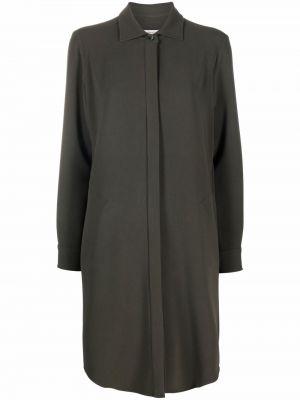 Платье макси с длинными рукавами - зеленое Alberto Biani