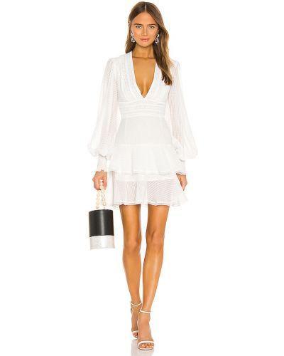 Biała sukienka długa z długimi rękawami na co dzień Keepsake
