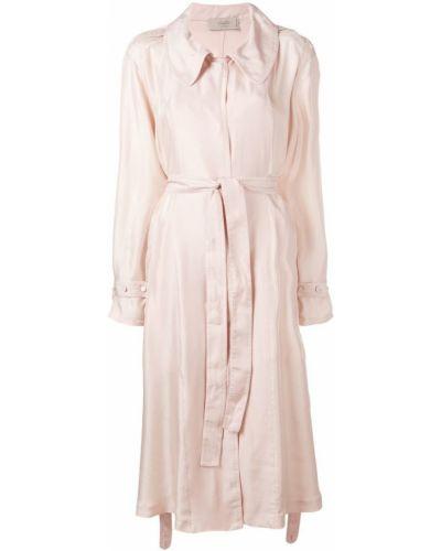 Розовое пальто с капюшоном на пуговицах Maison Flaneur