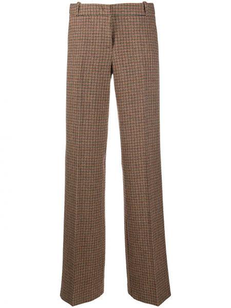 Шерстяные коричневые прямые брюки Drumohr