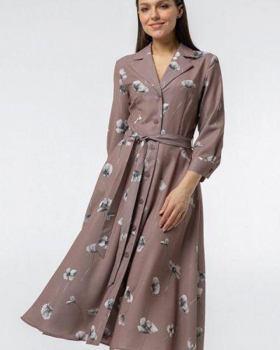 Платье рубашка - коричневое Vladi Collection