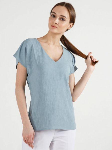 Блузка с коротким рукавом весенний серая Remix