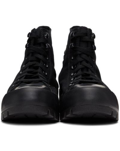 Высокие кроссовки на платформе - черные Converse