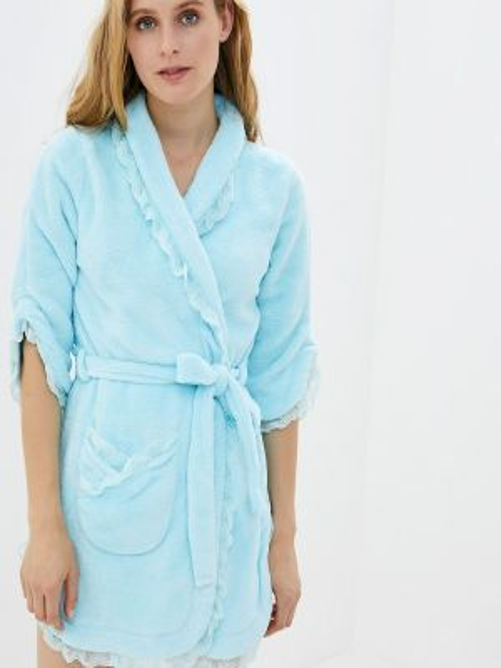 Домашний халат - голубой Lelio