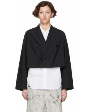 Пиджак черный в полоску Y`s