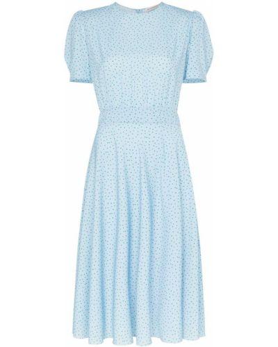 Платье в горошек на пуговицах Vika Gazinskaya