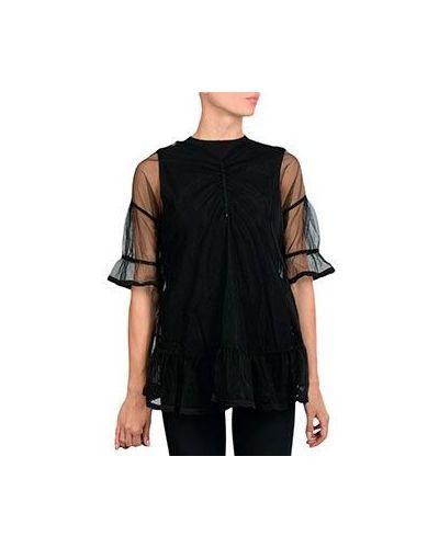 Блузка прозрачная черная Twinset