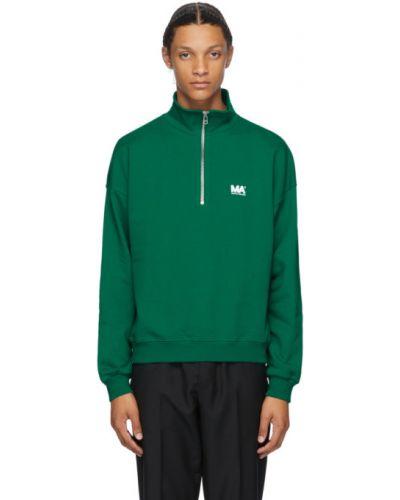 Zielony golf z długimi rękawami srebrny Martin Asbjorn