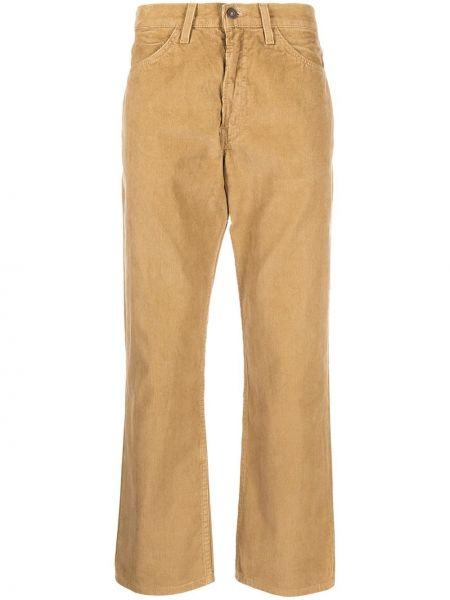 Коричневые брюки с карманами вельветовые с высокой посадкой Levi's Vintage Clothing