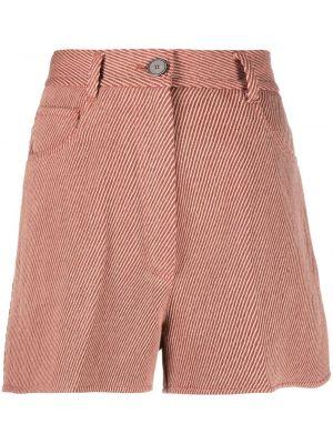 Красные хлопковые шорты Forte Forte