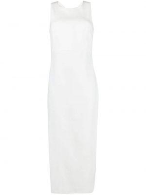 Льняное белое платье мини без рукавов Antonelli