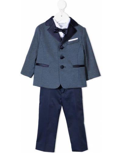 Klasyczny niebieski garnitur bawełniany Colorichiari