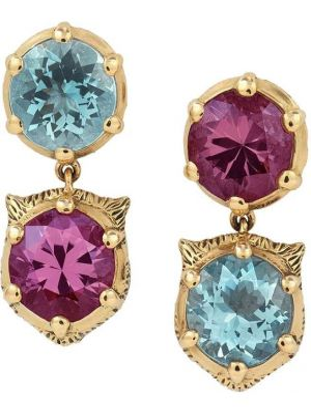 Kolczyki ze sztyftem kolczyki pierścionki żółty Gucci