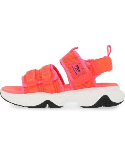 Оранжевые сандалии Fila