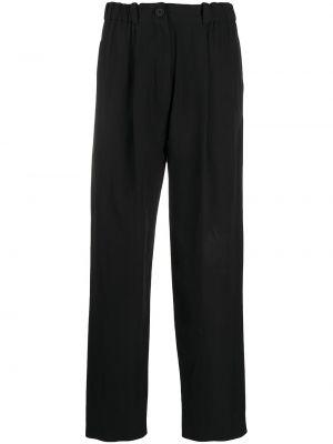 Черные с завышенной талией укороченные брюки с карманами Kenzo