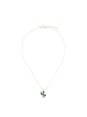 Biały naszyjnik perły Eshvi