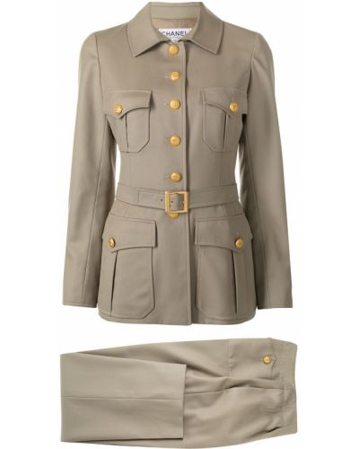 Klasyczny garnitur - brązowy Chanel Pre-owned