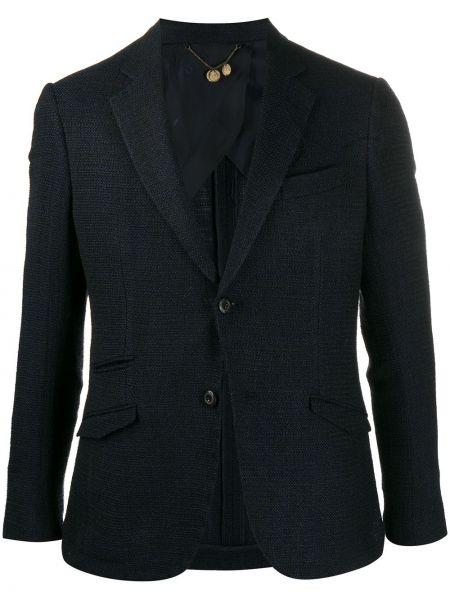 Шерстяной пиджак на пуговицах с лацканами с карманами Maurizio Miri