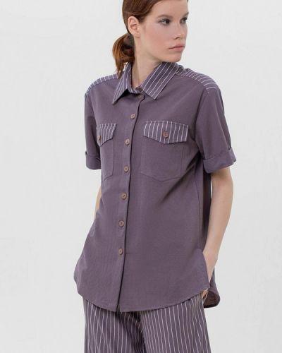 Фиолетовая блузка с коротким рукавом с короткими рукавами Lo