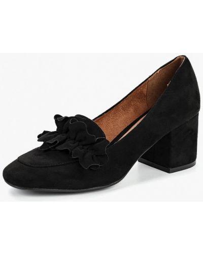 Туфли на каблуке осенние велюровые Corina