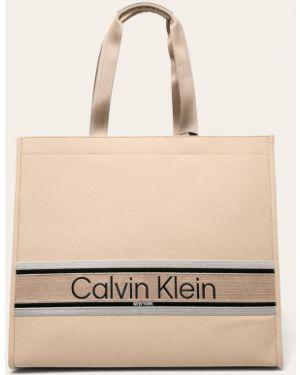 Torba z krótkimi uchwytami z uchwytem długo Calvin Klein