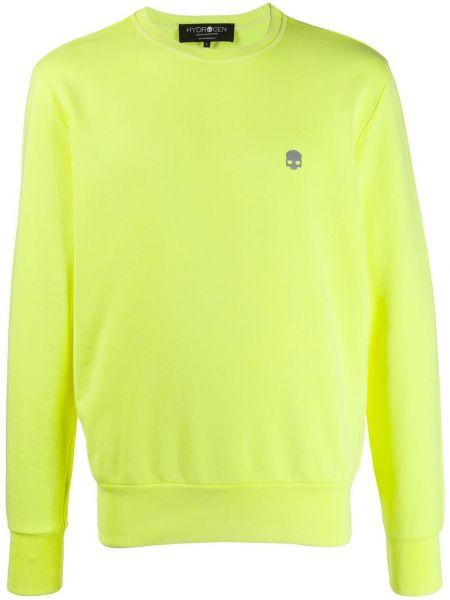 Żółta bluza z długimi rękawami bawełniana Hydrogen