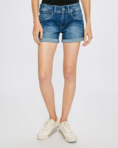 Джинсовые шорты синий с карманами Pepe Jeans