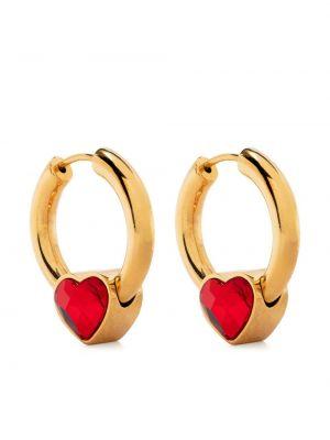 Золотистые серьги-гвоздики золотые металлические Balenciaga