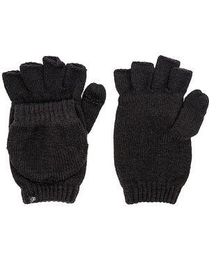 Ciepłe czarne rękawiczki z akrylu Plush