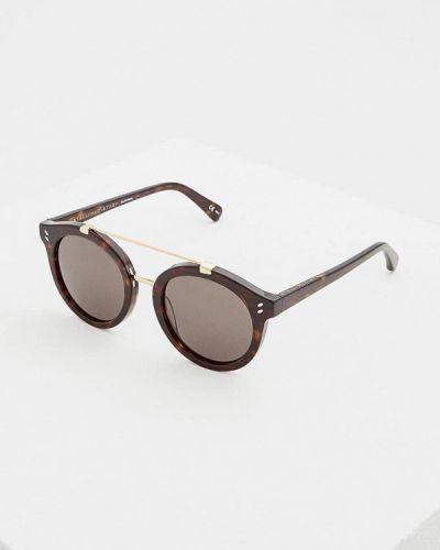 Коричневые солнцезащитные очки Stella Mccartney