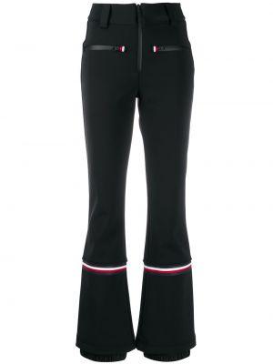 Черные расклешенные горнолыжные брюки с заплатками с поясом Rossignol