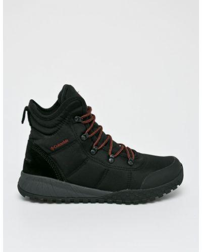Кожаные ботинки мембранные на шнуровке Columbia