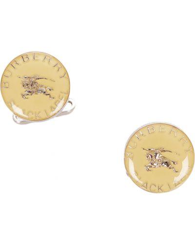 Złote spinki do mankietów - żółte Burberry Vintage