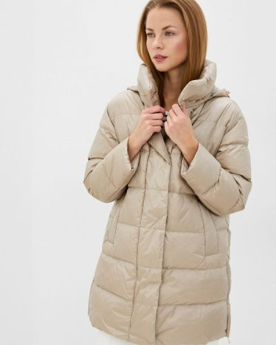 Бежевая зимняя куртка Geox