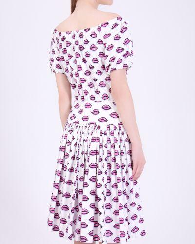 Повседневное с рукавами платье с поясом Prada