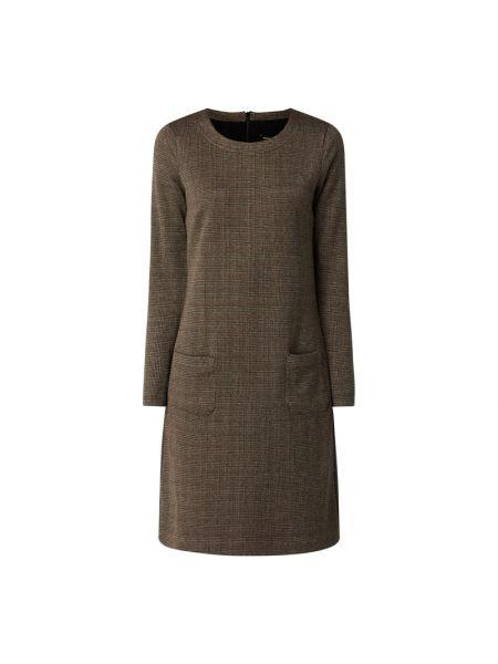 Sukienka mini bawełniana - brązowa More & More