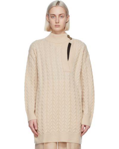 Черный шерстяной длинный свитер с V-образным вырезом Max Mara