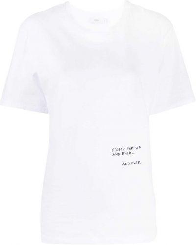 С рукавами белая футболка с вырезом Closed