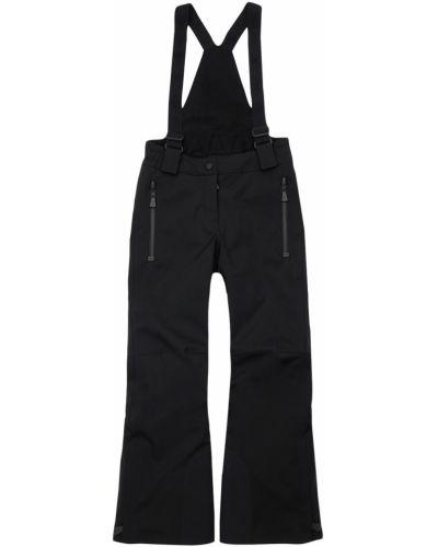 Czarny kombinezon z nylonu Moncler Grenoble