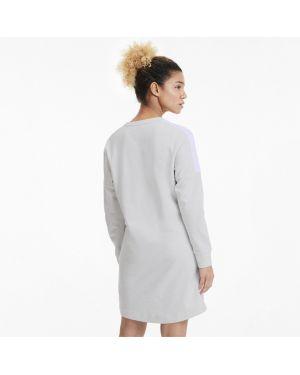Свободное белое платье в рубчик Puma